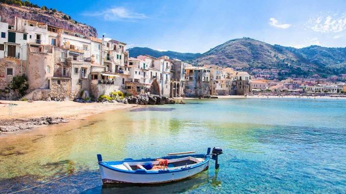 Beschauliches Sizilien: Der alte Hafen von Cefalu