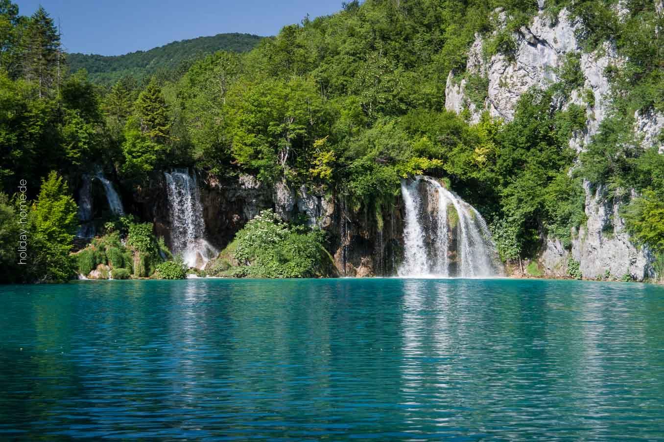 Wasserfälle an den Plitvicer Seen - Ausflugsziel vom Ferienhaus in Kroatien