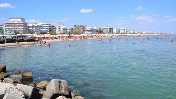 Italienische Adria - am Strand von Riccione