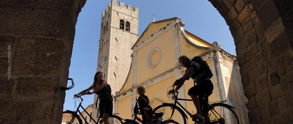 Mit dem Rad durch Istrien gibt es viel Historisches zu entdecken